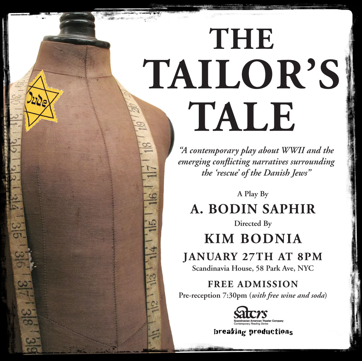 Come See 'The Tailor's Tale' Tonight at Scandinavia House