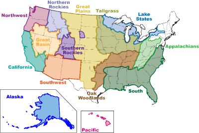 Map of JFSP Regional Consortia