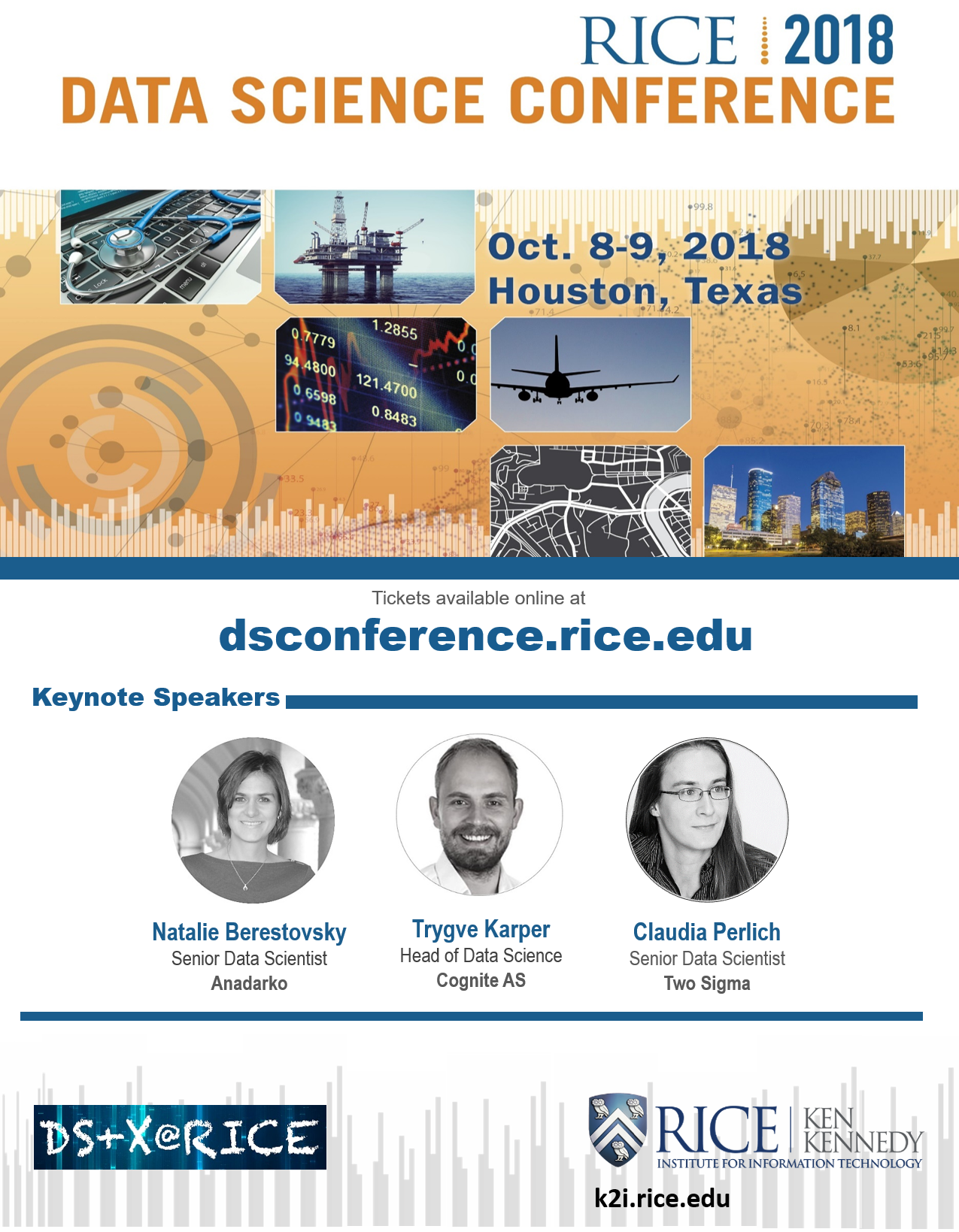 2018 Rice Data Science Conference Speakers