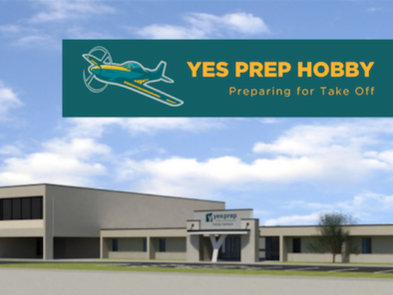 Rendering of Hobby campus featuring school mascot
