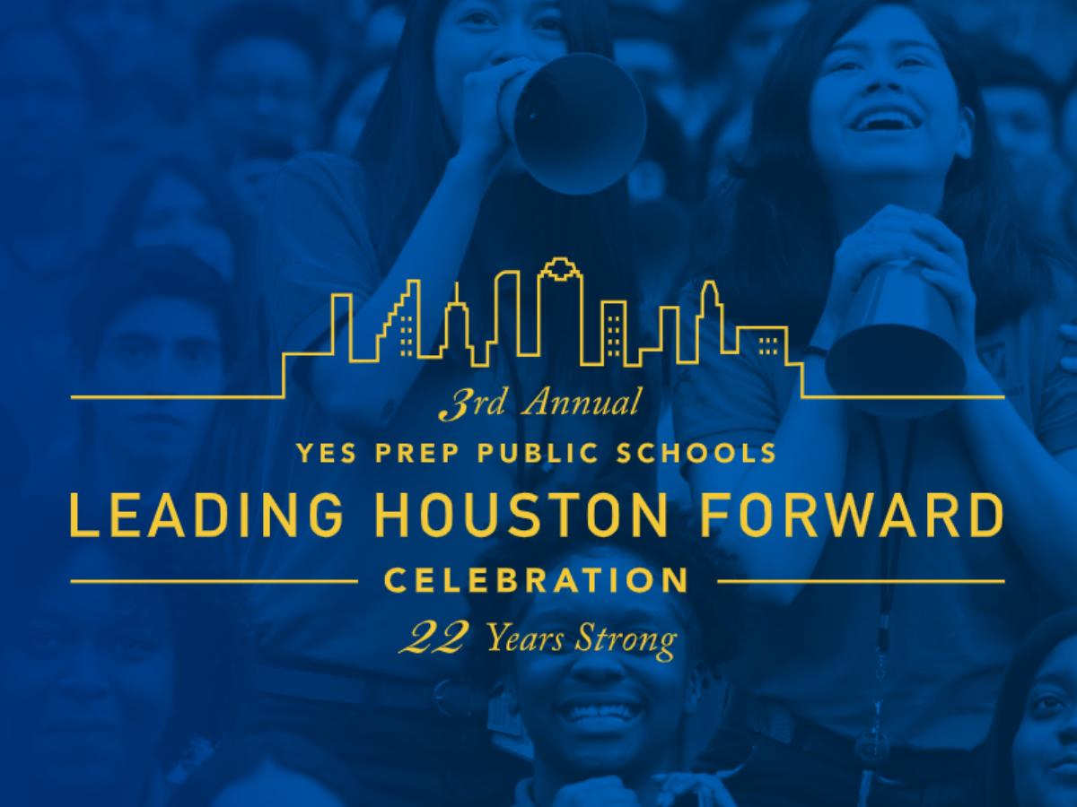 Leading Houston Forward invitation front cover