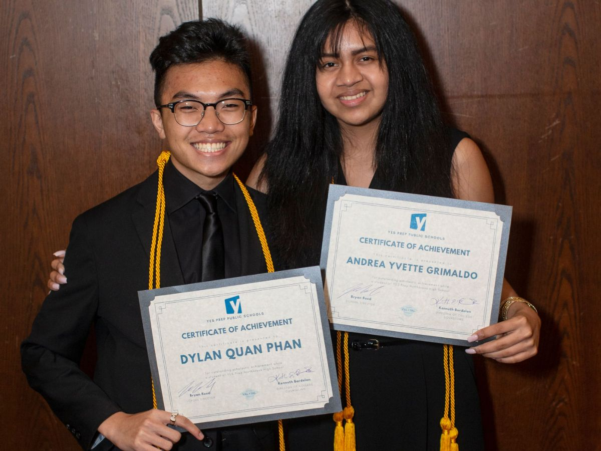 Valedictorian and Salutatorian from YP Northbrook