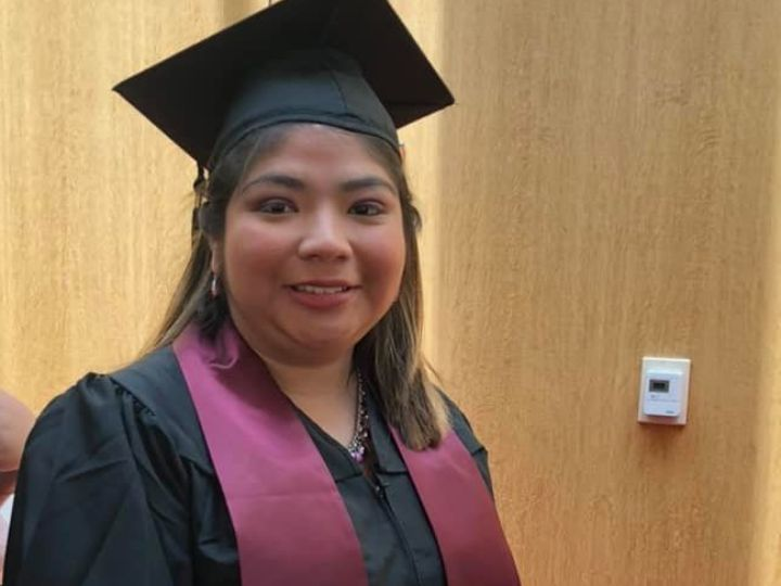 Cynthia Oropeza at her graduation from A&M program
