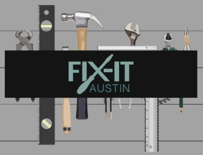 Fix-it clinic logo with tools