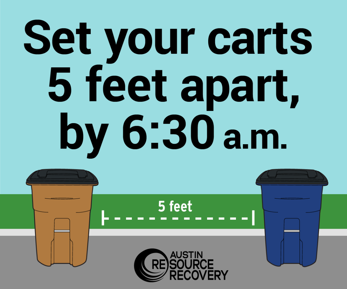Set your carts 5 feet apart, by 6 am (with cart illustration)