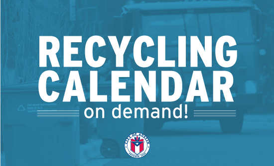 Recycling Calendar on demand (graphic)