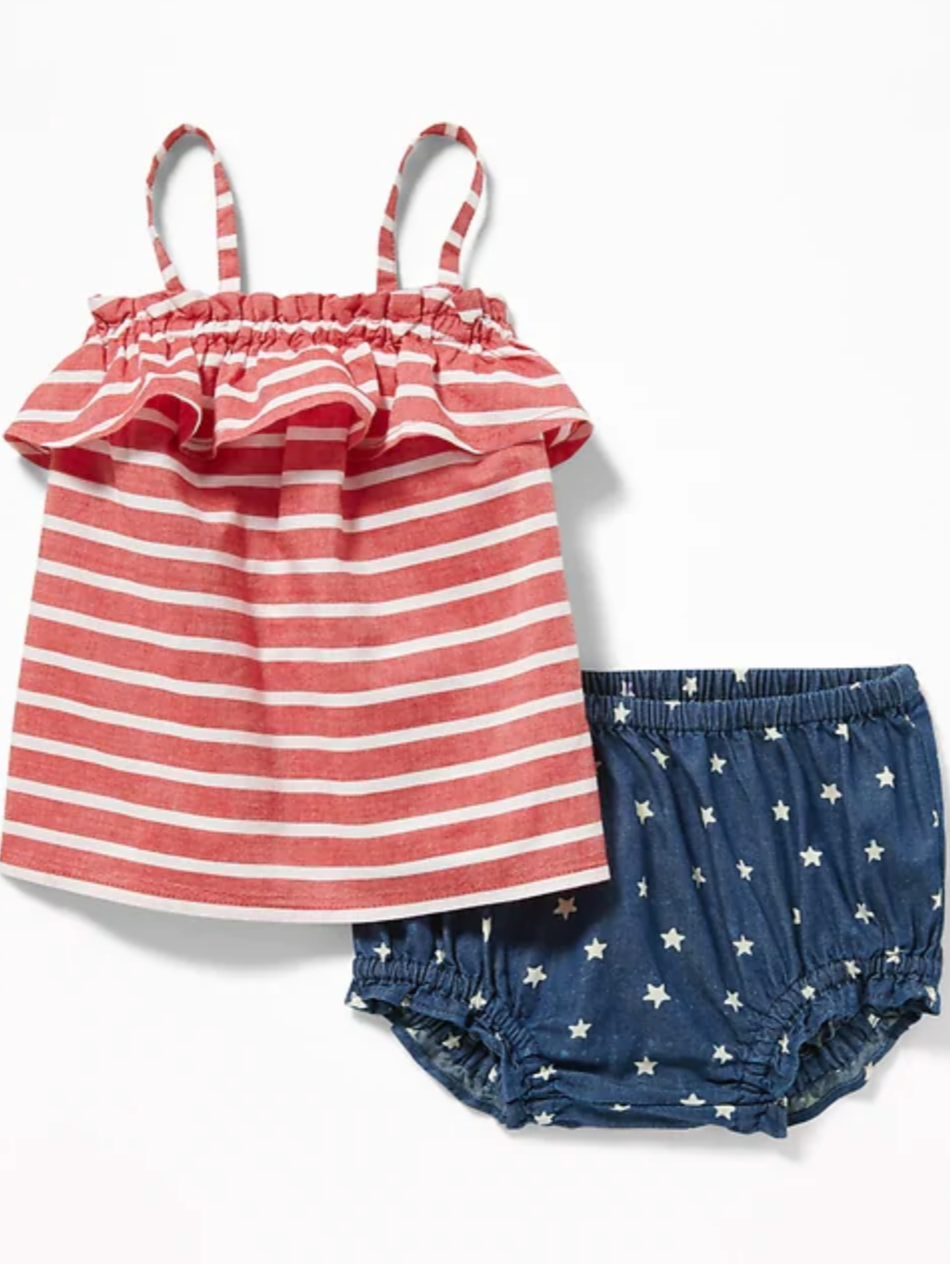 Fourth of July outfit for baby girl