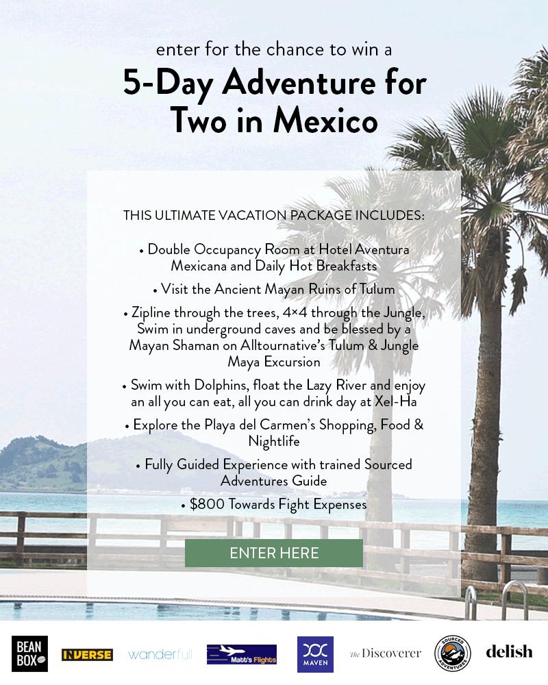 5-day adventure for two to mexico sweeps