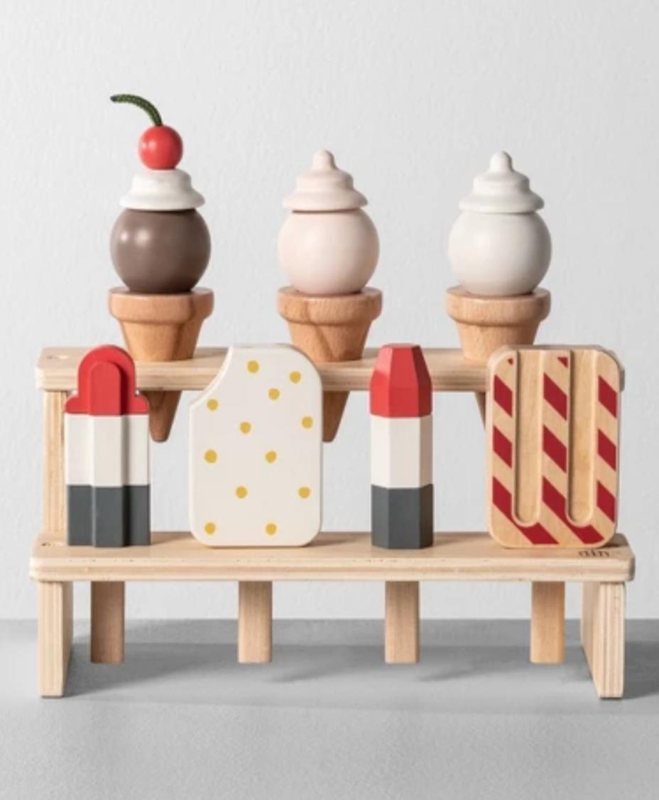 Wooden ice cream toy