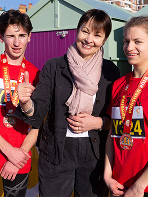 Caroline Lucas presents medals at the 2019 event