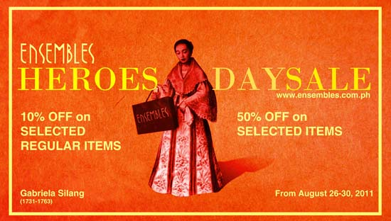 Ensembles Heroes' Day Sale