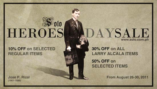 Solo Heroes' Day Sale