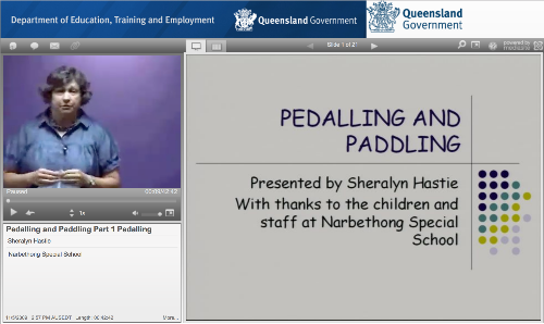 Sheralyn Hastie presents on pedalling and paddling