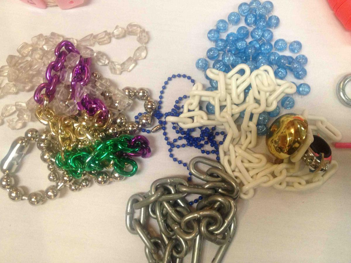 Chains made of different materials