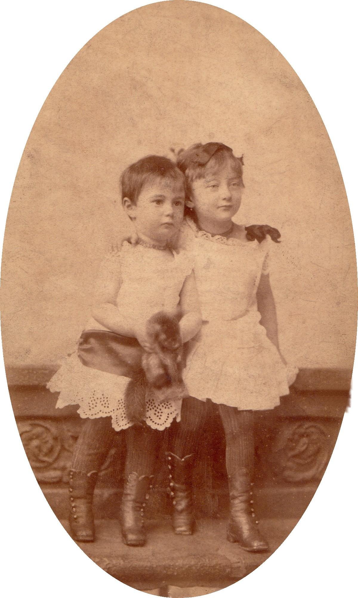 Goldzieher Klára és fivére, Miksa