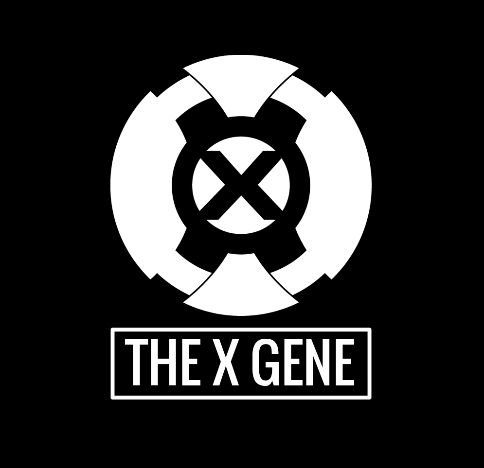 The X Gene logo - a big X badge with the title underneath