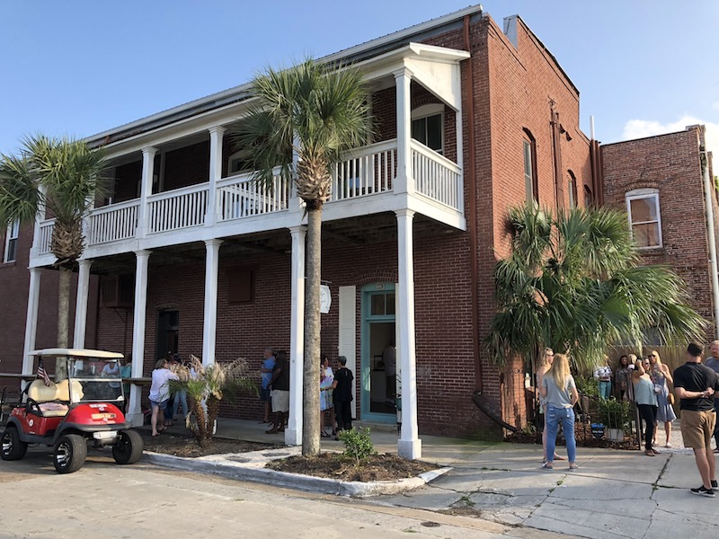 downtown brick building in Apalachicola