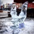 Squirrel ice sculpture
