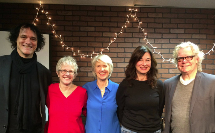 group photo of Bill Berry, Tracy Newman, Diana Weynand, Shelly Peiken, Tony Braunagel (photo by Linda Abse)