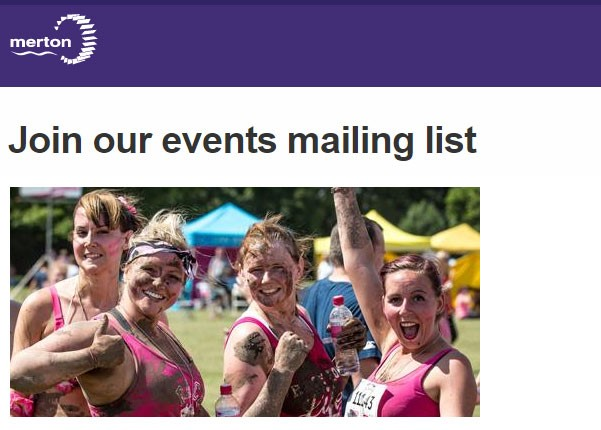Join our events mailing list