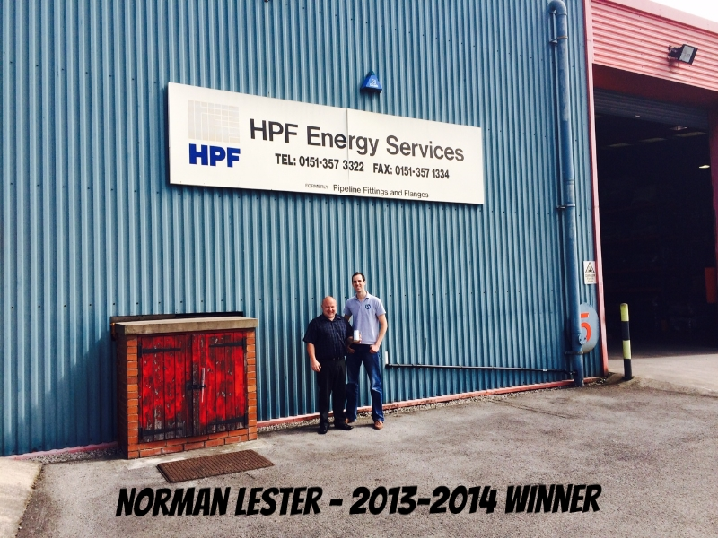 Norman Lester - Stock Services winner 2013-2014
