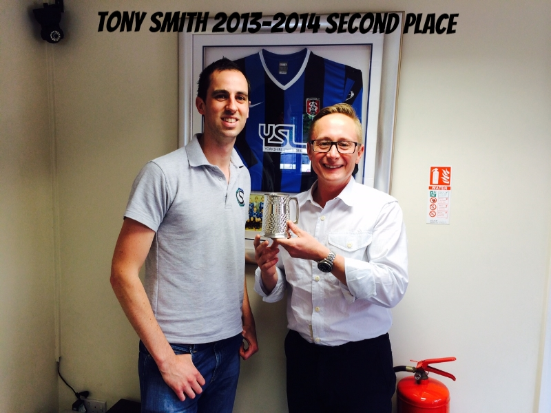 Tony Smith - Stock Services second place 2013-2014