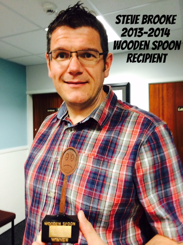 Steve Brooke - Stock Services Wooden Spoon Winner 2013-2014