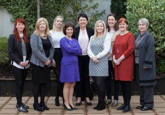 Pictured from left to right: Catherine Cocollos (Celtic Escargot, Co. Galway), Ann Shields (Anneco Beauty, Co. Laois), Angela Mahon (Truzees, Co. Offaly), Anne Cusack (Lead Entrepreneur, ACORNS and MD of Critical Healthcare, Co. Westmeath), Clare Colohan (The Galway Food Company, Co. Galway), Diane Nevin (Health Evident, Co. Westmeath), Lisa Larkin (Durrow Mills, Co. Offaly), Helen Conneely (Mementooh, Co. Westmeath), Ann O'Reilly (The Sewing Boutique, Co. Longford).