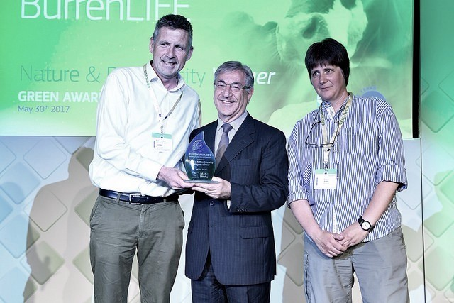 BURRENLIFE was the second winning project in the Nature & Biodiversity category. The project was represented at the Green Awards by Mr Brendan Dunford and Ms Sharon Parr.