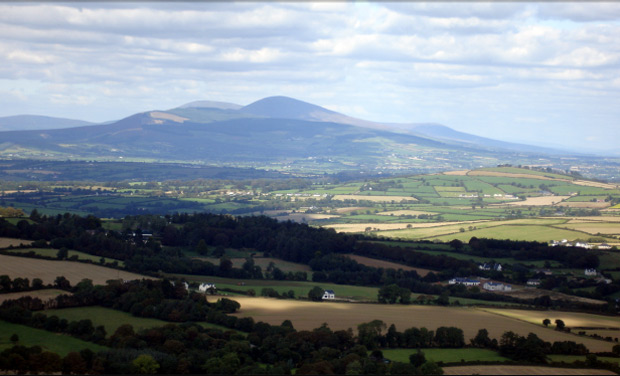 View of Blackstairs Mountains