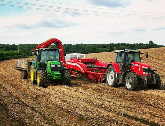 Image of tractors at work