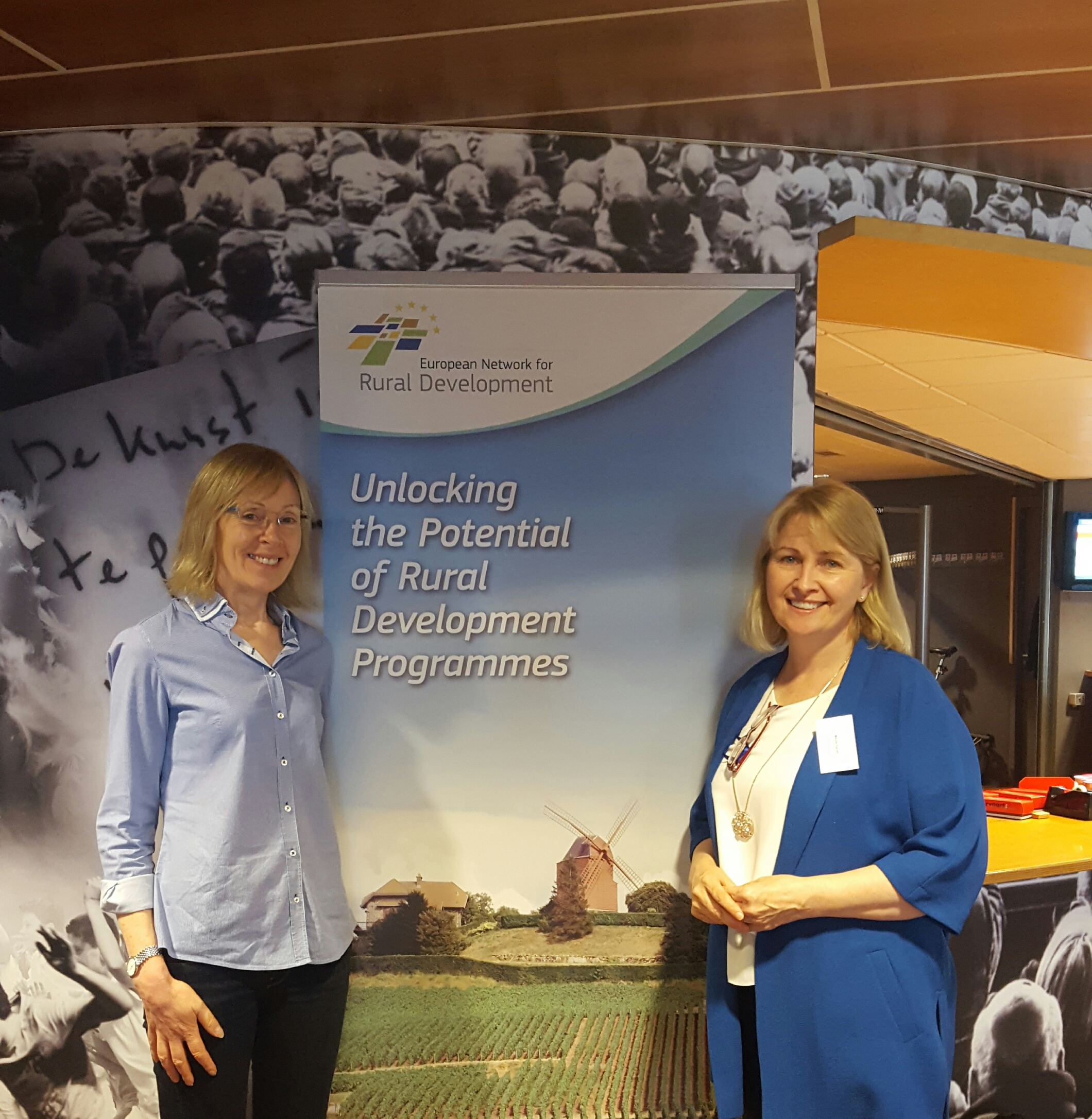 Dr Marie Mahon and Dr Maura Farrell at ENRD Conference in Amsterdam