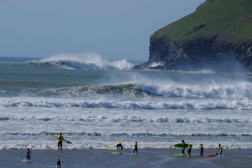 Big waves at Pentire