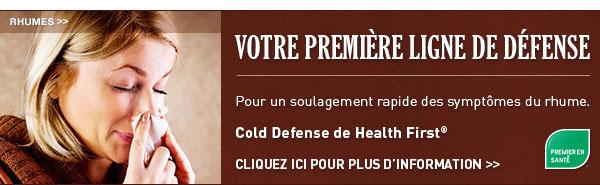 Cold Defense de Health First