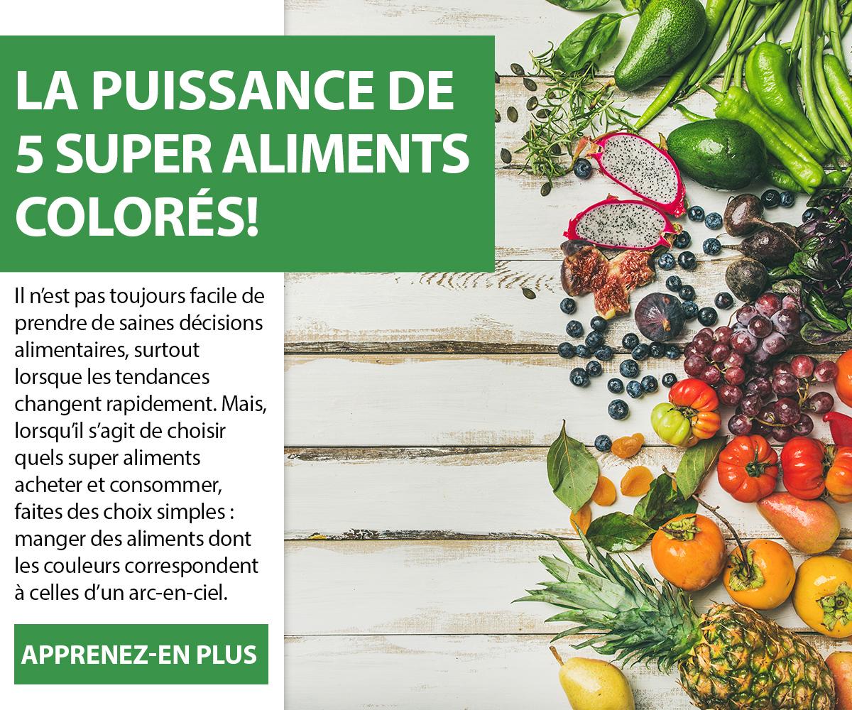 La puissance de 5 super aliments colorés!