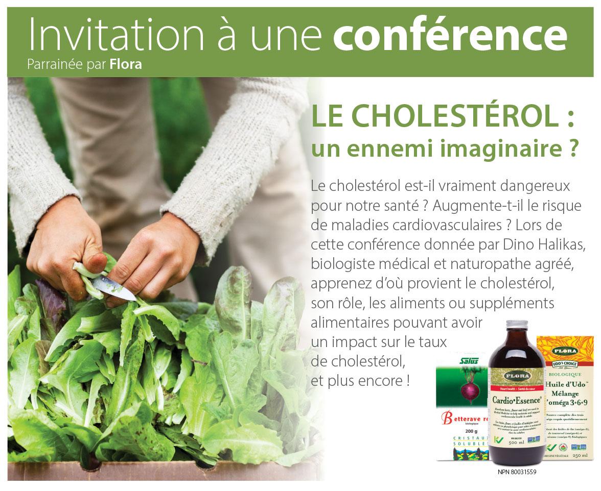 Invitation à une conférence Parrainée par Flora