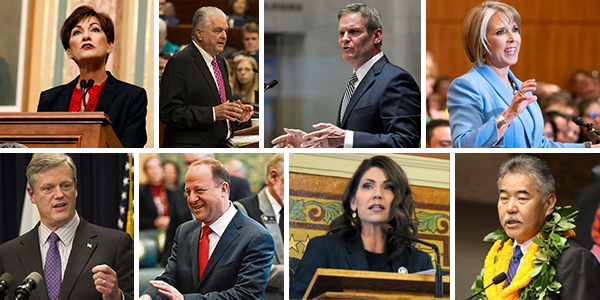 Photo collage of governors