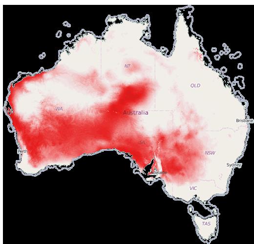 Australian species distribution map