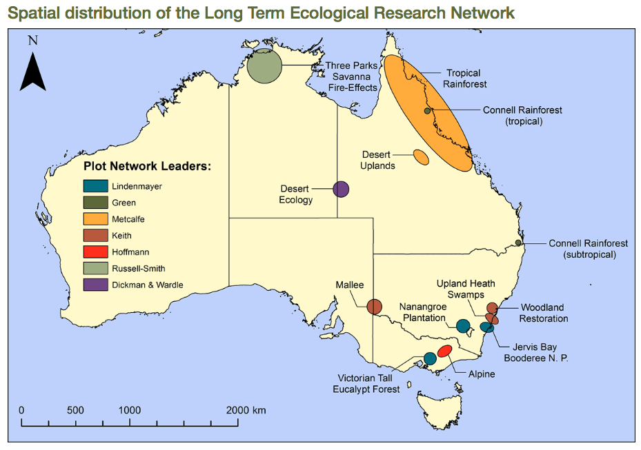 LTERN Australian map