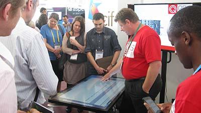 Stephen Bird demonstrating QRIScloud at eRes2015
