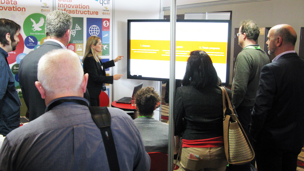 QCIF booth at eResearch Australasia 2016