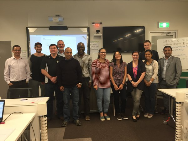 Instructors and attendees at CQU's first Software Carpentry workshop