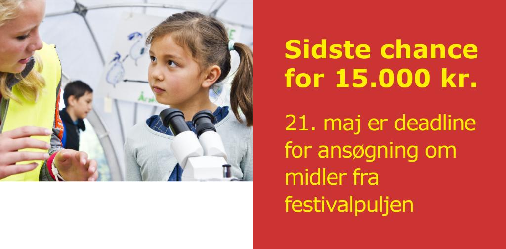 Gør din festival 15.000 kroner rigere.