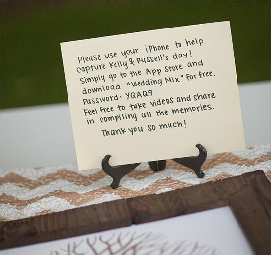 Free printable WeddingMix table card template