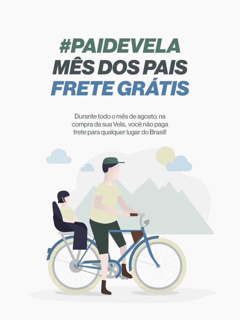 Promoção: Agosto #PAIDEVELA Frete grátis na compra a sua Vela
