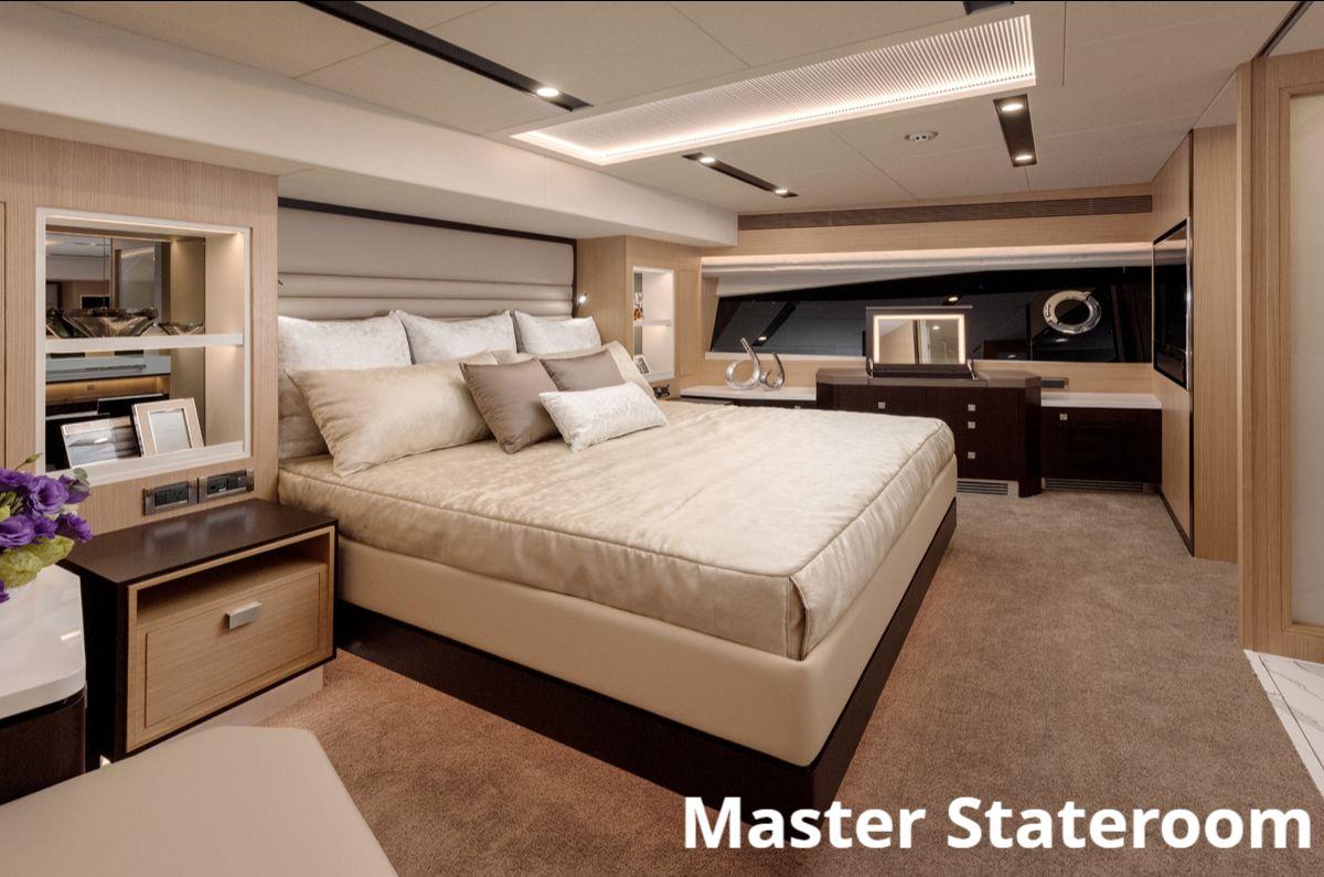 Horizon FD77 Skyline - Master Stateroom