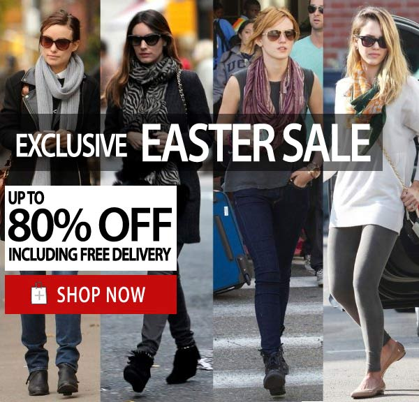 Easter sale up to 80% off on selected shoes styles + free delivery Australia wide at ShoeSales.com.au