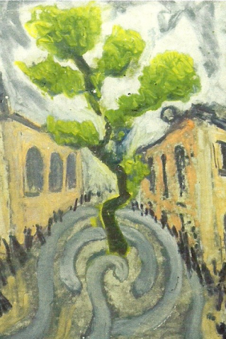 The tree in the churchyard at St Edmund's