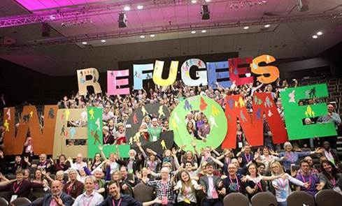 Refugees Welcome campaigners