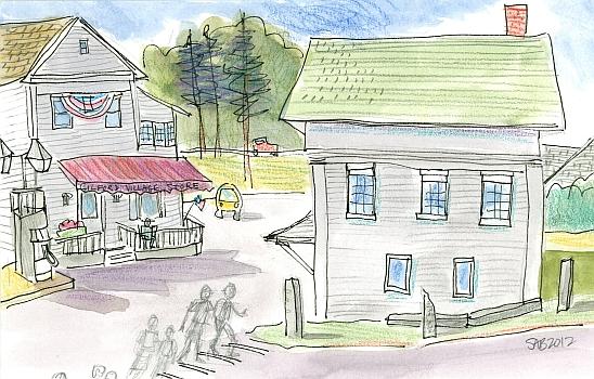 A drawing of Gilford, NH